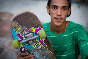 HAVANA, LA HABANA - AUGUST 16:  Orlando Rosales, 24, has received skating equipment from a non profit organization in the United States. He is pictured on Sunday eventing, August, 16, 2015 at a skate park in Havana, Cuba.  (Photo by Sarah L. Voisin/The Washington Post)